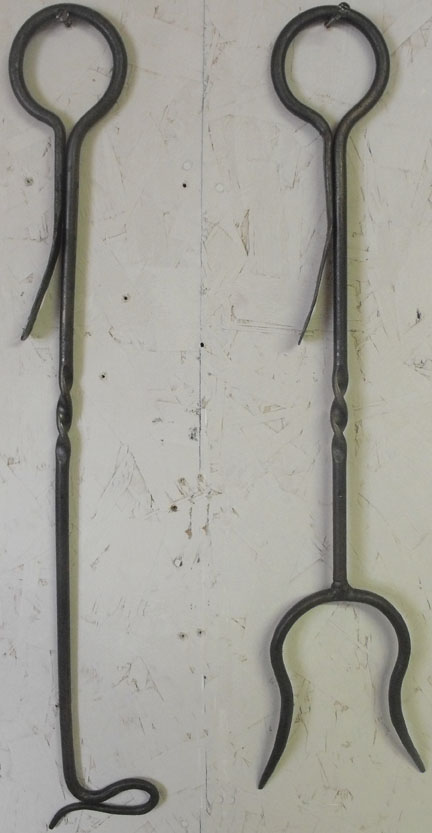 wrought iron firefork and firepoker