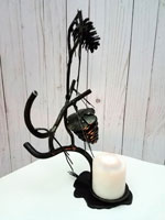 Large fir cone style candle holder