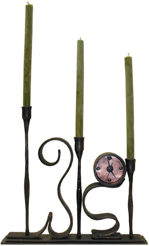 wrought iron swirling candelabra