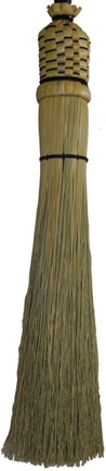 wrought iron fireplace broom