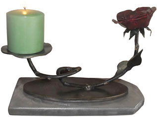 wrought iron rose table candle holder