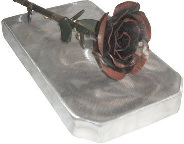 wrought iron rose