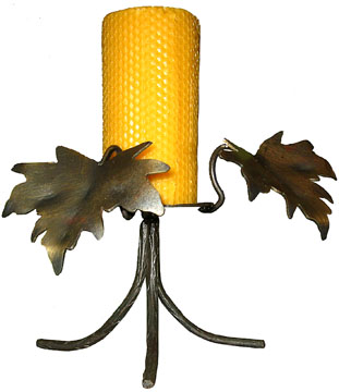 wrought iron maple leaf candle holder