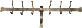 wrought iron diamond hook coat rack