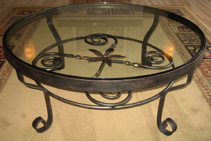 wrought iron coffee tables | end tables | tables | green mountain Wrought Iron Coffee Table